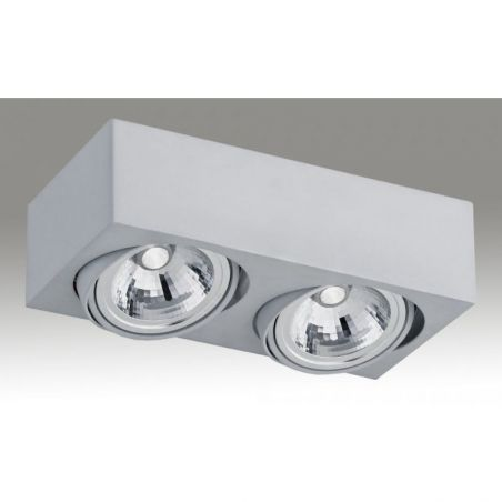 Plafon sufitowy LED 2pł RODOS 650 Argon 2xLED/7W 230V 8,5x30 cm - NEGOCJUJ CENĘ!