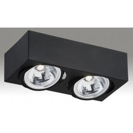 Plafon sufitowy LED 2pł RODOS 651 Argon 2xLED/7W 230V 8,5x30 cm - NEGOCJUJ CENĘ!