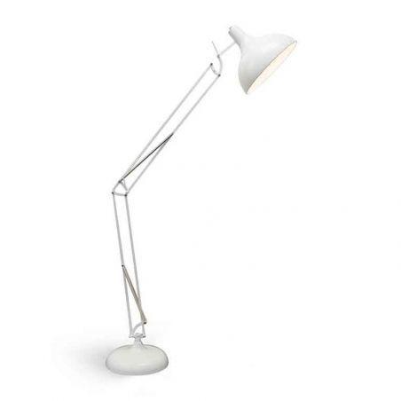 Lampa podłogowa 1pł GUNNAR FL-12002 WH AZzardo 1x40W/E27 230V 165x39 cm - NEGOCJUJ CENĘ!