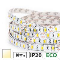 Taśma LED ECO 18W/m, 60xLED SMD 5630/m, IP20, biały ciepły, 5m