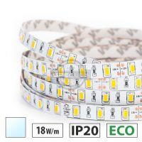Taśma LED ECO 18W/m, 60xLED SMD 5630/m, IP20, biały zimny, 5m