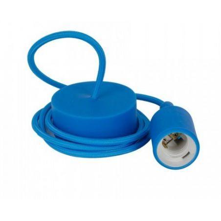 Oprawka silikonowa niebieska z kablem - komplet