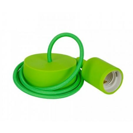Oprawka silikonowa zielona z kablem - komplet