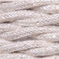 Kabel w oplocie bawełnianym - beżowy 1m