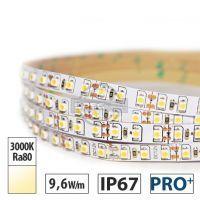 Taśma LED  PRO+ 9,6W/m, 540lm/m, 3000K, Ra80, 12VDC, IP67, 5m