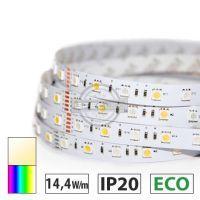 Taśma LED ECO 14,4W/m, 60xLED SMD 5050/m, RGBW BC, IP20, 5m