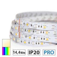 Taśma LED PRO 14,4W/m, 60xLED SMD 5050/m, RGBW BC, IP20, 5m