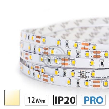 Taśma LED  PRO 12W/m, 60xLED SMD 2835/m, IP20, biały ciepły, 5m