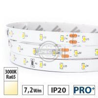 Taśma LED PRO 7,2W/m, 700lm/m, 3000K, Ra65, 24VDC, IP20, 5m