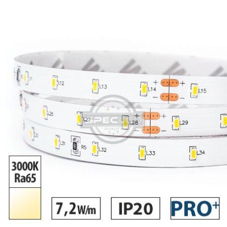 Taśma LED  PRO+  7,2W/m,  700lm/m, 3000K, Ra65, 24VDC, IP20, 5m