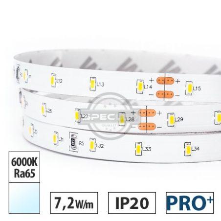 Taśma LED  PRO+  7,2W/m, 770lm/m, 6000K, Ra65, 24VDC, IP20, 5m