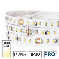 Taśma LED PRO+ 14,4W/m, 1440lm/m, 3000K, Ra80, 24VDC, IP20, 5m