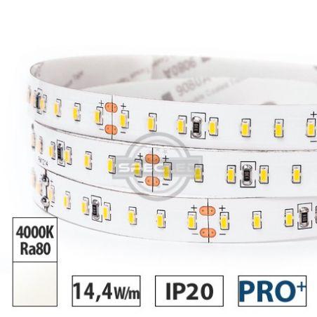 Taśma LED  PRO+ 14,4W/m,  1600lm/m, 4000K, Ra80, 24VDC, IP20, 5m