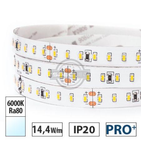 Taśma LED  PRO+ 14,4W/m, 1600lm/m, 6000K, Ra80, 24VDC, IP20, 5m