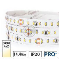 Taśma LED PRO+ 14,4W/m, 1400lm/m, 3000K, Ra65, 24VDC, IP20, 5m