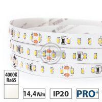 Taśma LED PRO+ 14,4W/m, 1550lm/m, 4000K, Ra65, 24VDC, IP20, 5m