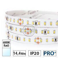 Taśma LED PRO+ 14,4W/m, 1550lm/m, 6000K, Ra65, 24VDC, IP20, 5m