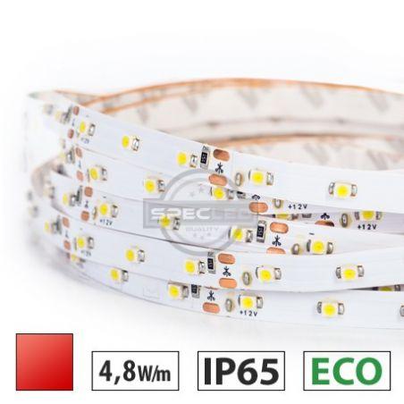 Taśma LED ECO 4,8W/m, 60xLED SMD 3528/m, IP65, czerwony, 5m