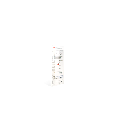 Plansza z systemem mocowań (40 x 100cm) do oświetlenia LED