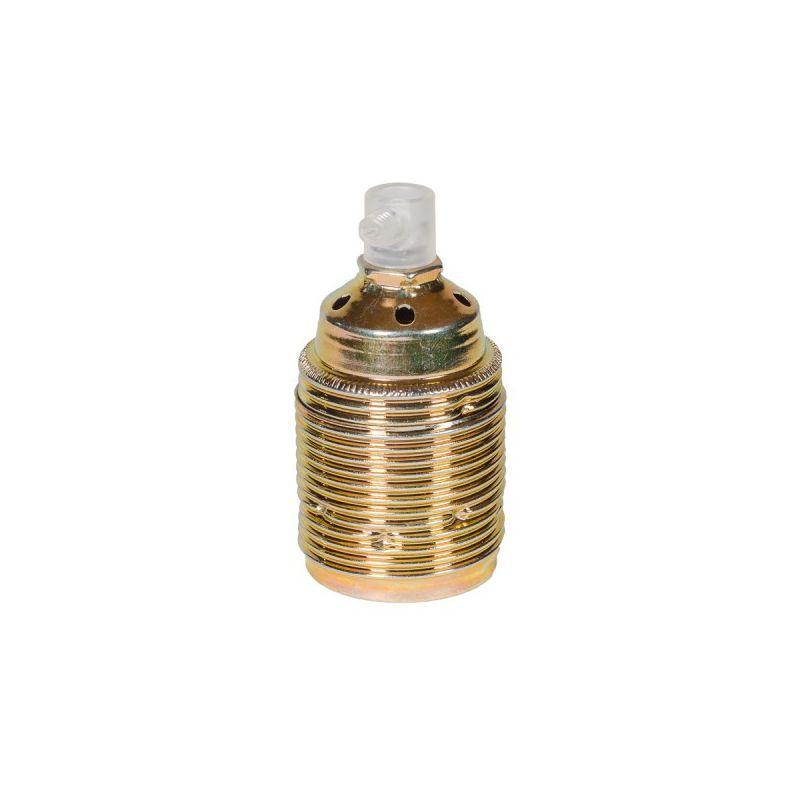 Oprawka metalowa E27 - złota