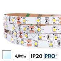 Taśma LED  PRO+ 4,8W/m, 60xLED SMD 3528/m, IP20, biały zimny, 5m