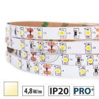 Taśma LED  PRO+ 4,8W/m, 60xLED SMD 3528/m, IP20, biały ciepły, 5m