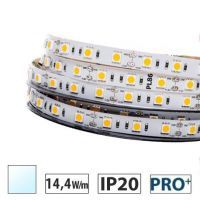 Taśma LED  PRO+ 14,4W/m, 60xLED SMD 5050/m, biały zimny, IP20, 5m