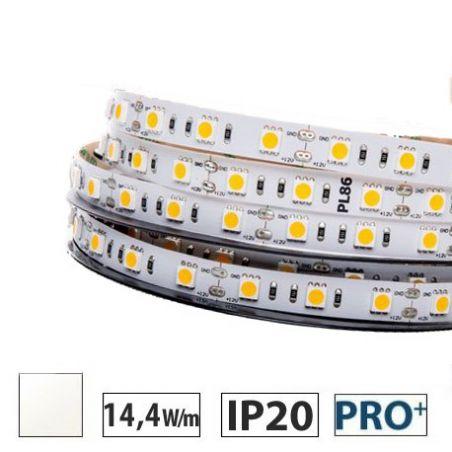Taśma LED  PRO+ 14,4W/m, 60xLED SMD 5050/m, biały neutralny, IP20, 5m