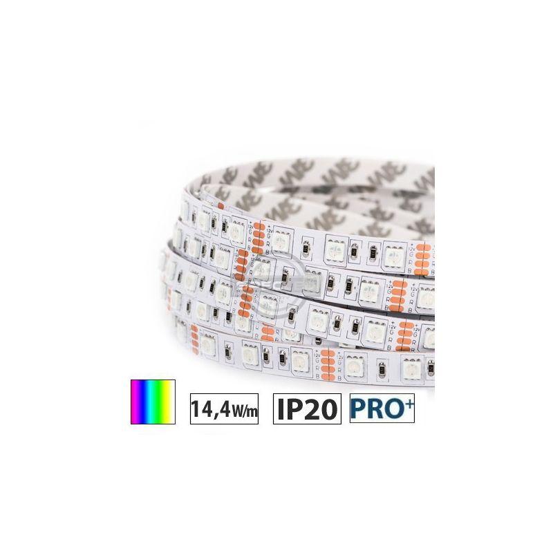 Taśma LED  PRO+ 14,4W/m, 60xLED SMD 5050/m, RGB, IP20, 5m