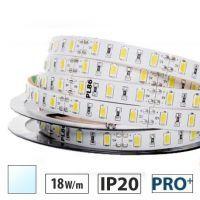 Taśma LED PRO+ 18W/m, 60xLED SMD 5630/m, IP20, biały zimny, 5m