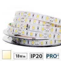Taśma LED PRO+ 18W/m, 60xLED SMD 5630/m, IP20, biały ciepły, 5m