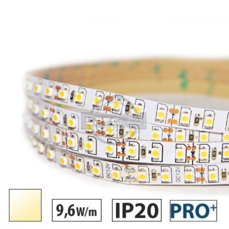 Taśma LED  PRO+ 9,6W/m, 120xLED SMD 3528/m, IP20, biały ciepły, 5m
