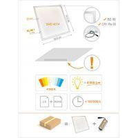 Panel LED 50W, 4000lm, 4000K, 600x600mm, IP20