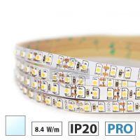 Taśma LED PRO+ 8,4W/m, 120xLED SMD 2835/m, IP20, biały zimny, 5m