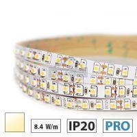 Taśma LED PRO+ 8,4W/m, 120xLED SMD 2835/m, IP20, biały ciepły,5m