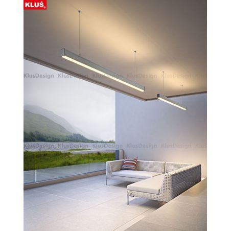 Profil LED DES, aluminium anodowane, profil podwieszany 3m