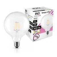 LED GLOB / E27 / 8W / odp.68W / BIAŁY CIEPŁY / ŻARÓWKA LED INQ
