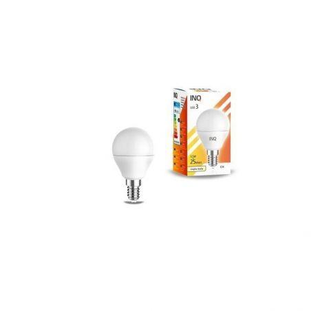 LED / E14 / 4W / odp.30W / BIAŁA CIEPŁA / KULKA / ŻARÓWKA LED INQ