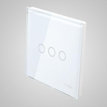 Panel dotykowy, duży, biały łącznik potrójny