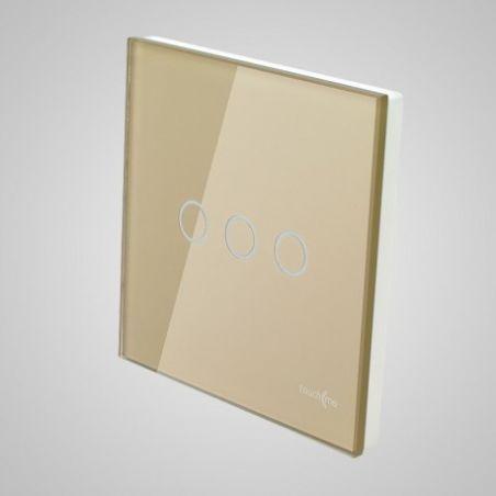 Panel dotykowy, duży, złoty, łącznik potrójny