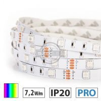 Taśma LED  PRO 7,2W/m, 30xLED SMD 5050/m, IP20, RGB, 24V 1m