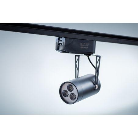 Reflektor szynowy LED Track Light 3x1 PowerLED 4W czarny