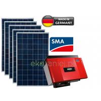 Elektrownia słoneczna PREMIUM 1.5kW – 6 ogniw SHARP 250W, inwerter SMA, PROSUMENT