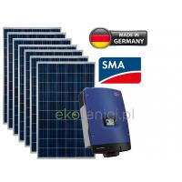 Elektrownia słoneczna PREMIUM 5kW – 20 ogniw SHARP 250W, inwerter SMA. CENA PROSUMENT: 20400zł brutto