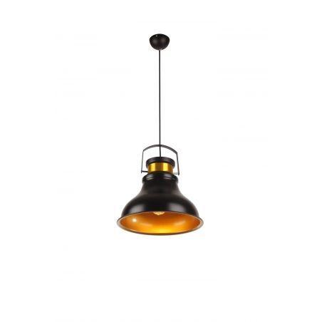 Lampa wisząca SWEDEN 1pł Czarny Złoto