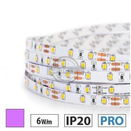 Taśma LED PRO 6W/m, 60xLED SMD 2835/m, IP20, fioletowy, 1m