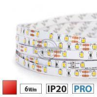Taśma LED PRO 6W/m, 60xLED SMD 2835/m, IP20, czerwony, 50m