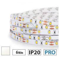 Taśma LED PRO 6W/m, 60xLED SMD 2835/m, IP65, biały neutralny, 25m