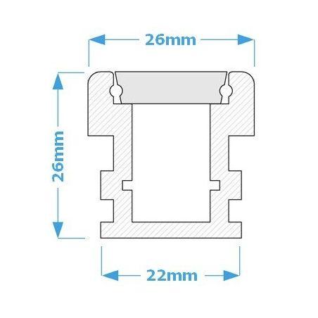 Lampa NULAMP WATER LINE 26 IP67 200cm, 26W, 2780lm, 4000K, Ra80