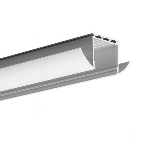 Profil LED LESTO, wpuszczany, aluminium anodowane